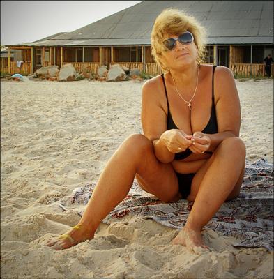 На пляже... Пляж Лазурное на пляже