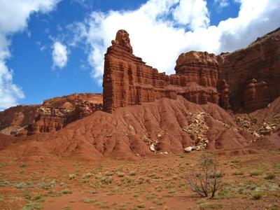 Красные скалы. Америка озеро природа скалы