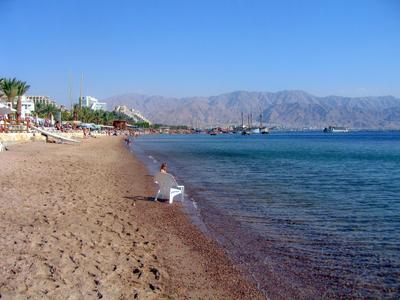 Эйлатский пляж. Израиль