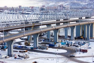 Мосты Мост город стройка