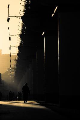 *** город москва закат