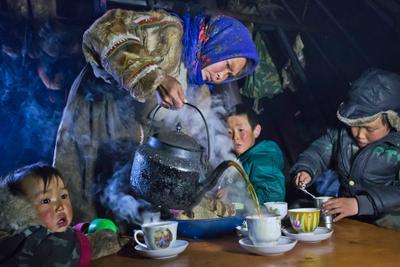 Чаепитие в тундре Ямал, ненцы, чум, чай, север