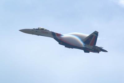 Су-35С ВКС ВВС Су-35С Кубинка Русские витязи авиация самолет эффект Прандтля-Глоерта