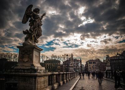 Ангелы Рима Рим Roma Sant Angelo Мост ангелы