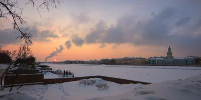 Как делают облака... Санкт-Петербург закат зима