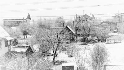 Теплый майский снег