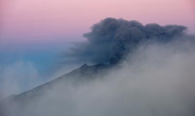 Извержение Вулкана Раун
