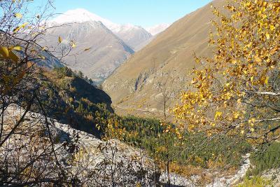Вид на Эльбрус с ущелья Адыл-Су