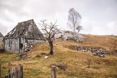 Балканы пейзаж дорога черногория тучи деревня балканы