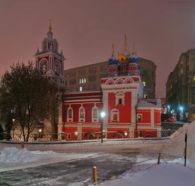 Георгиевская церковь архитектура город Москва Китай-город памятники пейзаж храмы Георгиевская церковь панорама