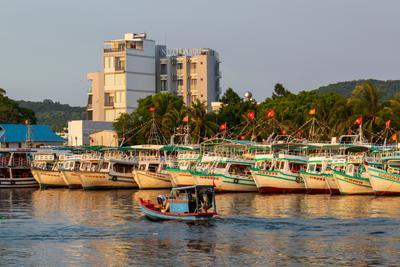 в порту Вьетнам о Фукуок море