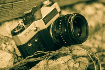Zenit Canon Zenit камера сепия