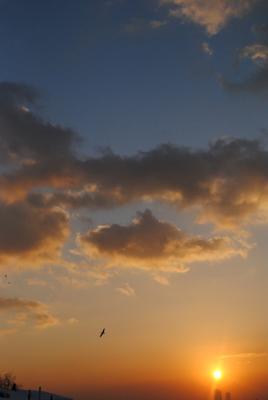 закат небо облака солнце закат