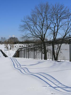 А когда-то был снег Петербург Стрельна Константиновский парк
