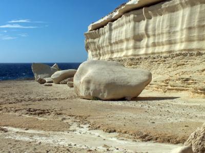 Мальта-Blata tal Melħ пейзаж природа море камни скалы