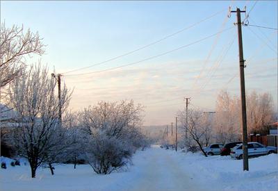 *21.01.21 Утро. Иней.** Зима