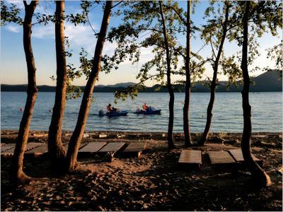 *Вечерний пляж на озере Боровое* фотография путешествия Казахстан Боровое озеро пляж вечер пейзаж лето Фото.Сайт Светлана Мамакина Lihgra Adventure