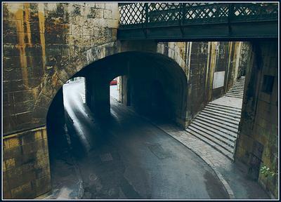 ***неизведанные пути*** мост, город, Валлетта, пути, дороги, Мальта