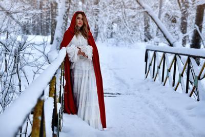 Зимний сказочный портрет