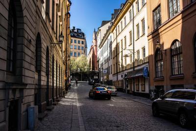 Улочка Старого Города, Стокгольм стокгольм швеция улица старый город