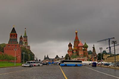 Красная Площадь Москва Красная Площадь Пасмурно