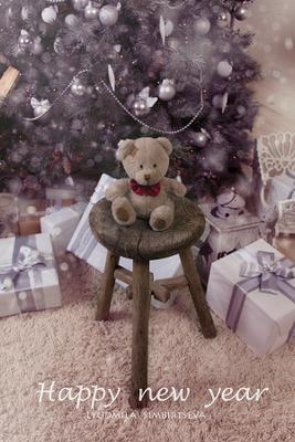Новый год игрушка мишка новый год