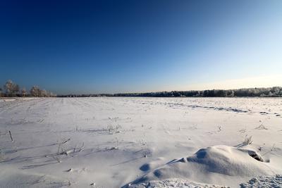 Снежное поле.