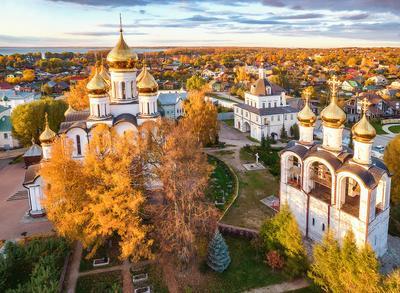 *** Вечер осень Переславль-Залесский монастыри Золотое Кольцо