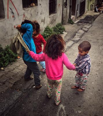 Дети  Чукура.Стамбул.