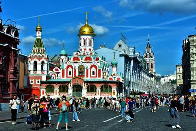 Москва праздничная город праздник москва столица никольская