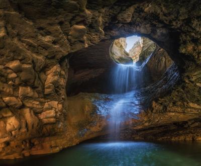 Салтинский водопад Кавказ Дагестан салта водопад весна