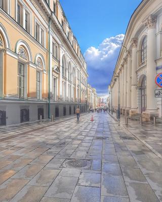 Переулок. город архитектура Москва переулок