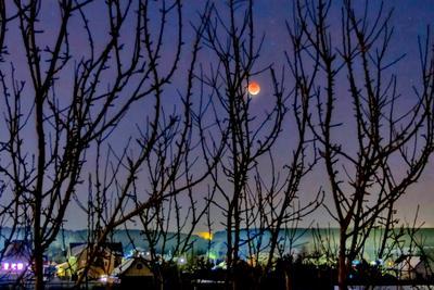Луна в тени.
