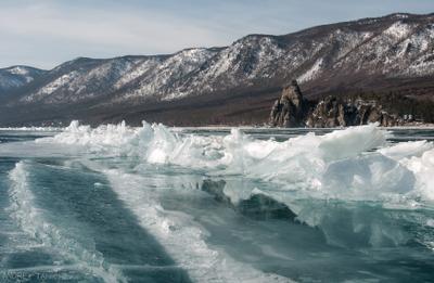 убийственные красоты Байкал лед ледовая трещина Baikal ice crack