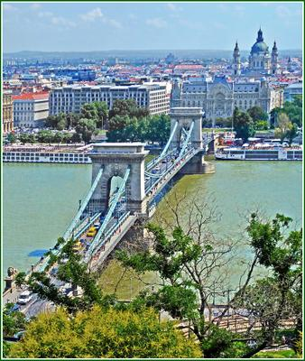 Одно из украшений Будапешта Венгрия Будапешт Budapest мост река Дунай Danube Duna