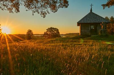 Встречая рассвет... рассвет пейзаж михайловское
