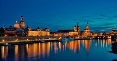 Вечерний Дрезден