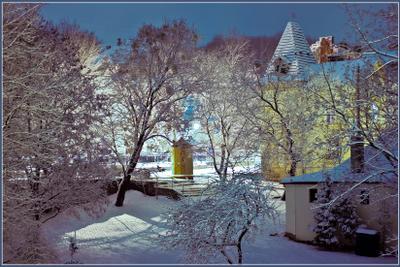 Вечерний город (20) город,улица,зима,вечер,огни