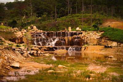 Водопад Горы Вьетнам Водопад