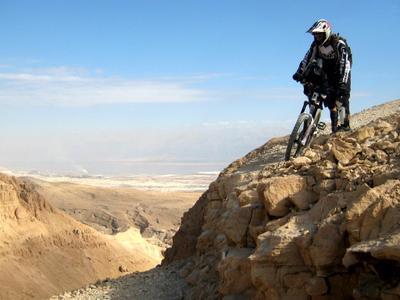 Фрирайд к мертвому морю desert, mountain bike, freeride