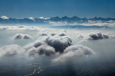 Облака индия, гималаи, облака, небо, горы