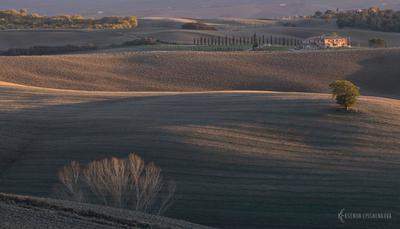 Осенние холмы Тосканы