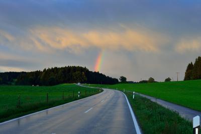 *** пейзаж германия бавария радуга