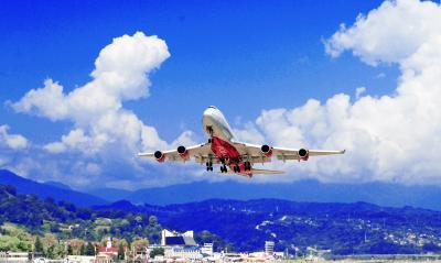 Пейзаж Авиация самолет аэропорт споттинг Сочи Адлер Взлет Посадка