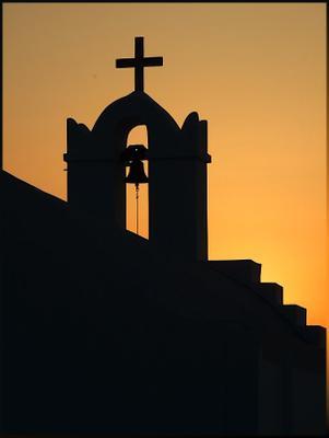 От безбожья до Бога - мгновенье одно! церковь колокол закат греция парос