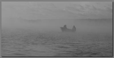 В тумане Финский залив