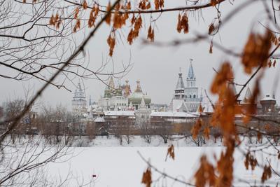 Измайловский замок Измайловский замок вернисаж зима Москва город достопримечательность Измайлово Izmailovo Moscow winter