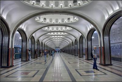 станция Маяковская Москва метро