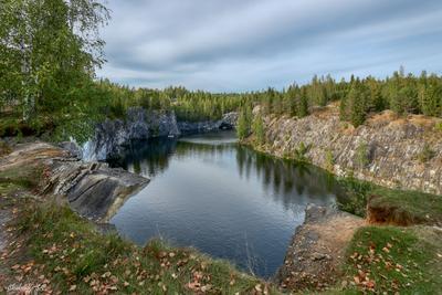 Мраморный карьер и горный парк Рускеала Карелия Пейзаж Парк Лето