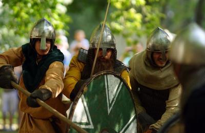 Бой битва бой ратник меч щит копье
